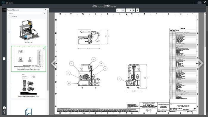 Sample Anark TDP with 3D MBD CAD, 2D legacy Drawings, Documents, BOM and More